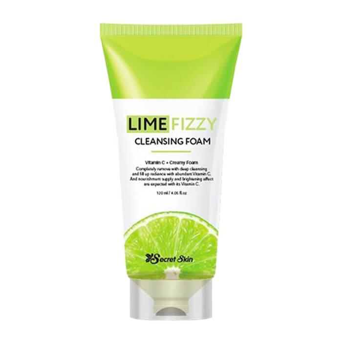 Купить Очищающая пенка Secret Skin Lime Fizzy Cleansing Foam, Нежная пенка для умывания лица с экстрактом лайма, Южная Корея