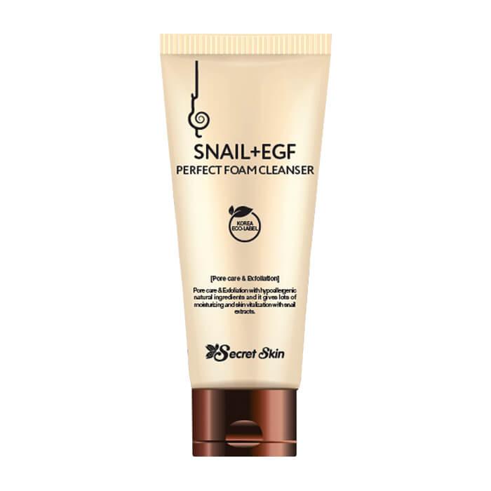 Купить Очищающая пенка Secret Skin Snail+EGF Perfect Foam Cleanser, Пенка для умывания лица с экстрактом улитки и фактором роста EGF, Южная Корея