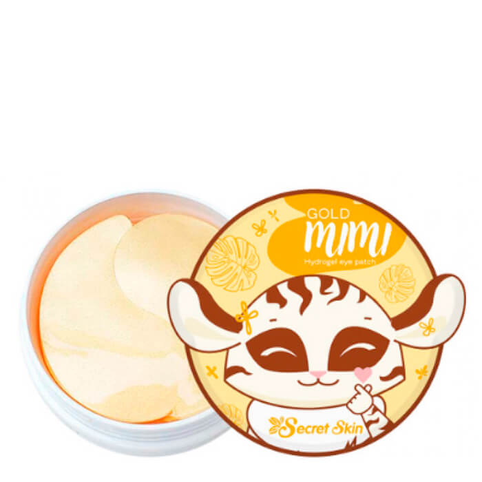 Купить Патчи для век Secret Skin Gold Mimi Hydrogel Eye Patch, Гидрогелевые патчи для глаз с частицами золота, Южная Корея