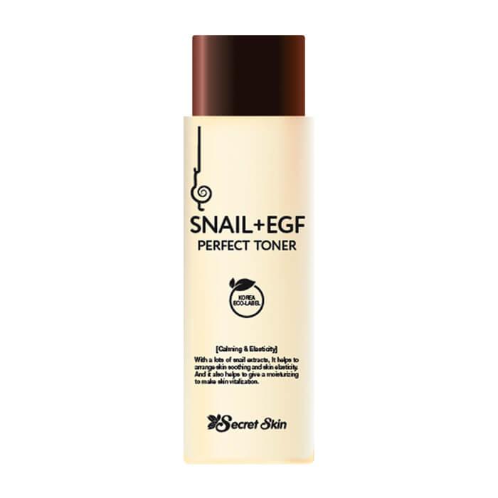 Купить Тонер для лица Secret Skin Snail+EGF Perfect Toner, Антивозрастной тонер для лица с экстрактом улитки и фактором роста EGF, Южная Корея