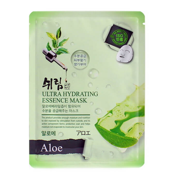 Маска для лица Shelim Hydrating Essence Mask - Aloe Тканевая маска для лица с экстрактом сока алоэ вера фото