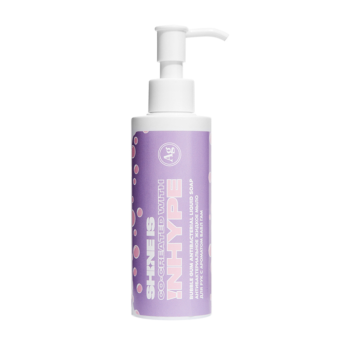 Купить Антибактериальное жидкое мыло для рук Shine is Bubble Gum Antibacterial Liquid Soap, Антисептическое средство для очищения кожи рук с ароматом жевательной резинки, Россия