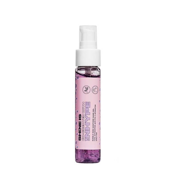 Купить Антибактериальный гель для рук Shine is Bubble Gum Sanitizer Hand Gel (50 мл), Антисептический гель для кожи рук с ароматом жевательной резинки, Россия