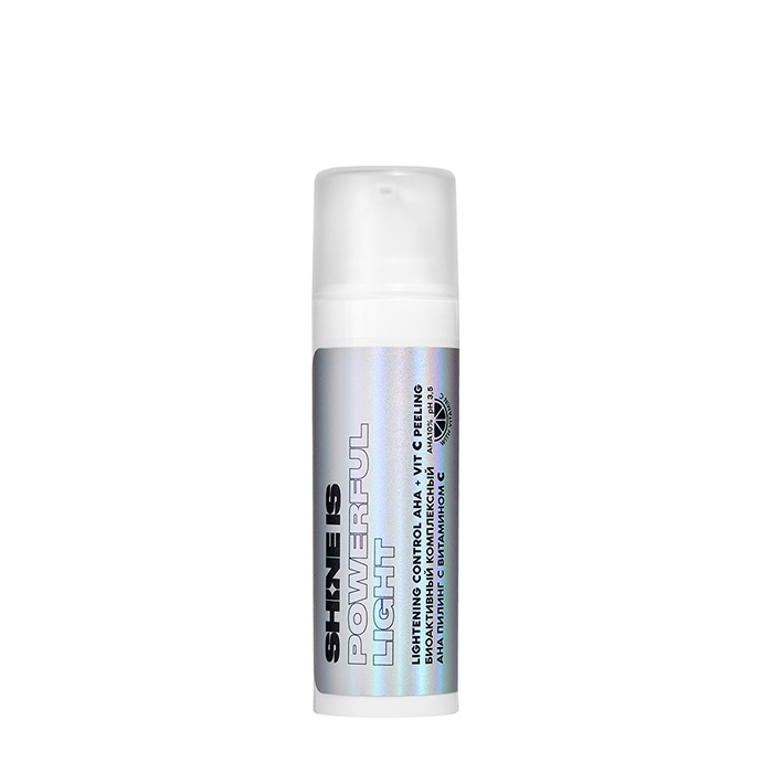 Купить Пилинг для лица Shine is Lightening Control AHA + Vit С Peeling, Биоактивный комплексный пилинг для кожи лица с витамином С и АНА-кислотами, Россия