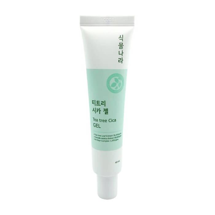 Купить Гель для лица Shingmulnara Tea Tree Cica Gel, Заживляющий гель для кожи лица с экстрактами чайного дерева и центеллы азиатской, Южная Корея