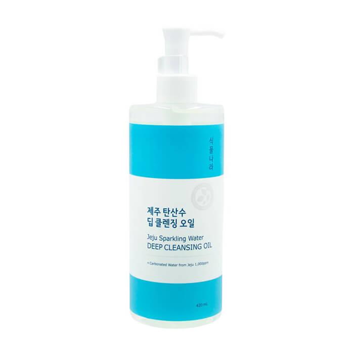 Гидрофильное масло Shingmulnara Jeju Sparkling Water Deep Cleansing Oil Гидрофильное масло для снятия макияжа с термальной водой острова Чеджу фото