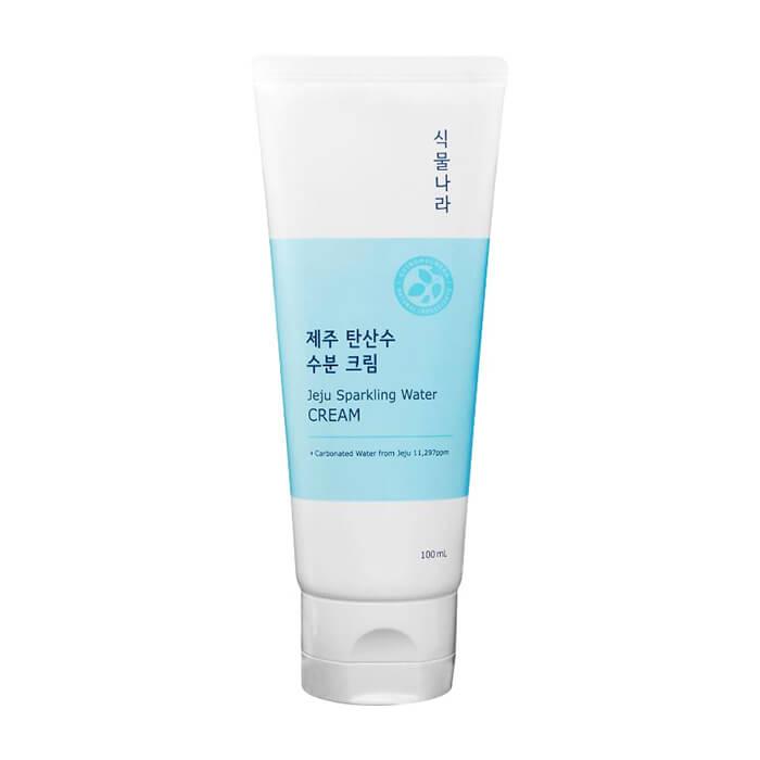 Купить Крем для лица Shingmulnara Jeju Sparkling Water Cream, Гидрирующий крем для увлажнения кожи лица с термальной водой острова Чеджу, Южная Корея