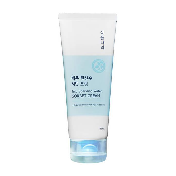Купить Крем-сорбет для лица Shingmulnara Jeju Sparkling Water Sorbet Cream, Гидрирующий крем для увлажнения кожи лица с термальной водой острова Чеджу, Южная Корея