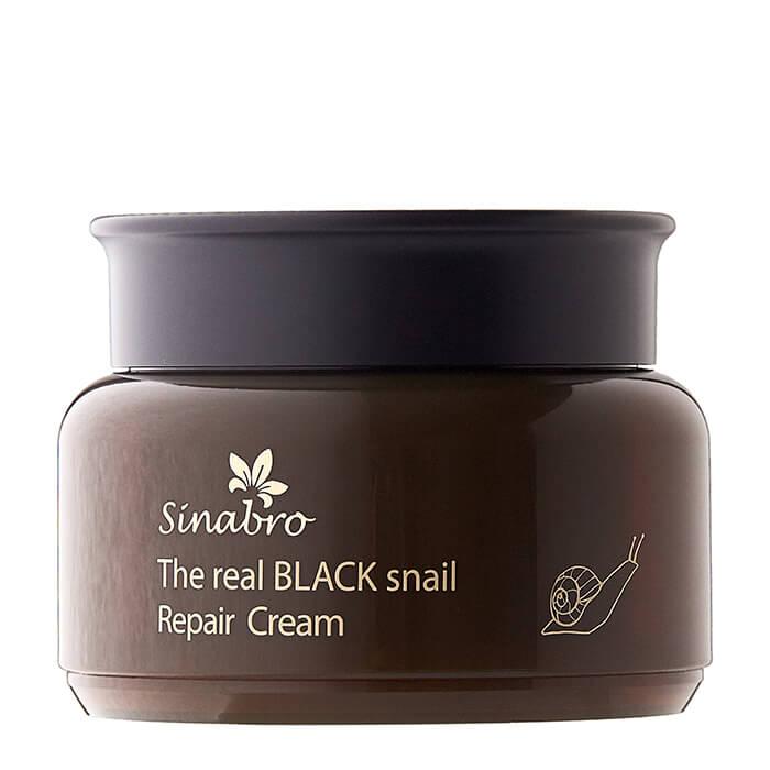 Купить Крем для лица Sinabro The Real Black Snail Cream, Восстанавливающий крем лица с экстрактом слизи чёрной улитки, Южная Корея