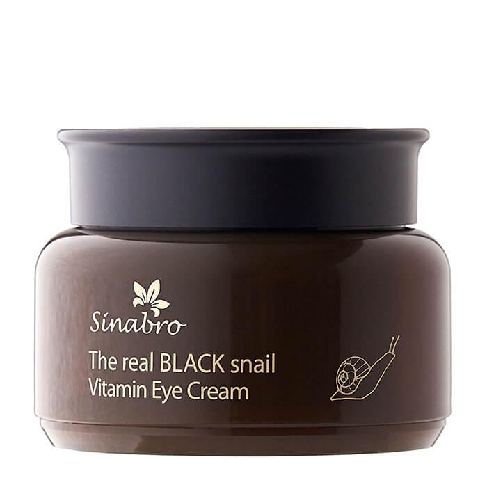 Купить Крем для век Sinabro The Real Black Snail Vitamin Eye Cream, Витаминный крем для глаз с экстрактом слизи чёрной улитки, Южная Корея