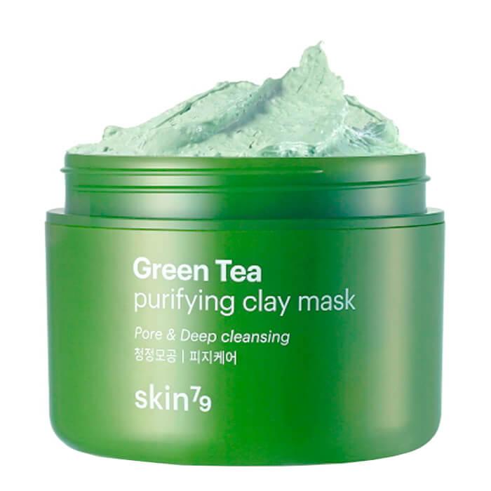 Купить Маска для лица Skin79 Green Tea Purifying Clay Mask, Глиняная маска для лица на основе экстракта зелёного чая, Южная Корея