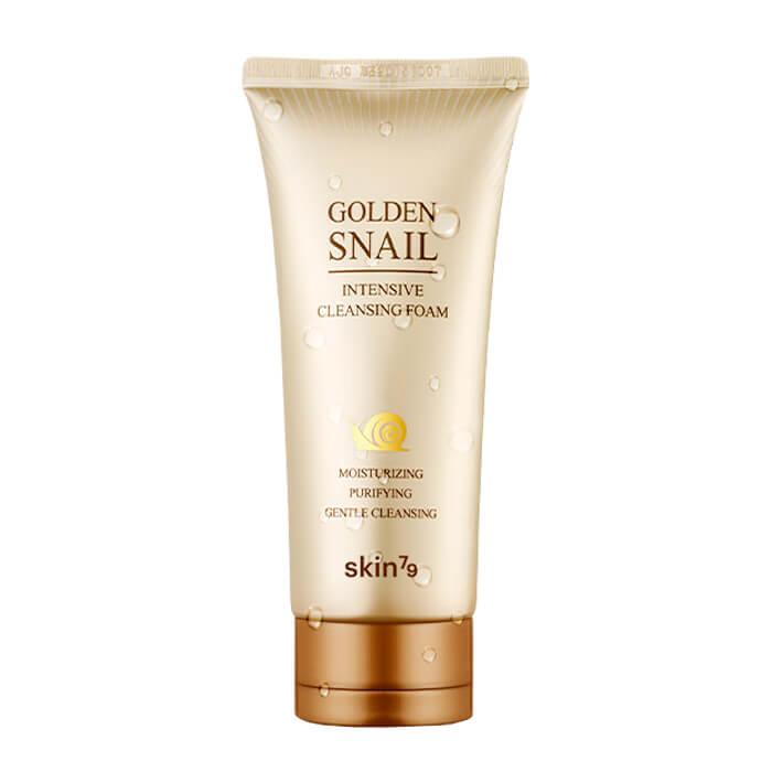 Купить Очищающая пенка Skin79 Golden Snail Intensive Cleansing Foam, Антивозрастная пенка для умывания лица с фильтратом слизи улитки, Южная Корея