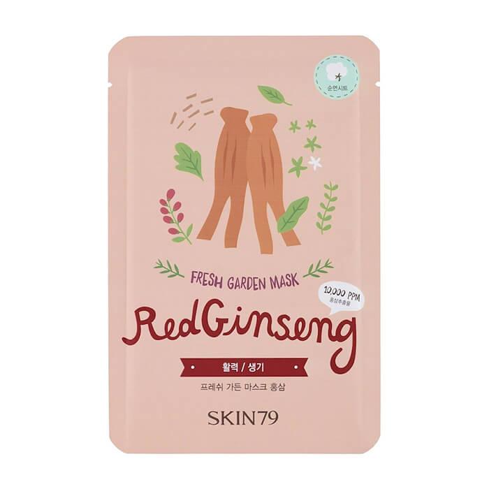 Тканевая маска Skin79 Fresh Garden Mask Red Ginseng Питательная тканевая маска для кожи лица с красным женьшенем фото