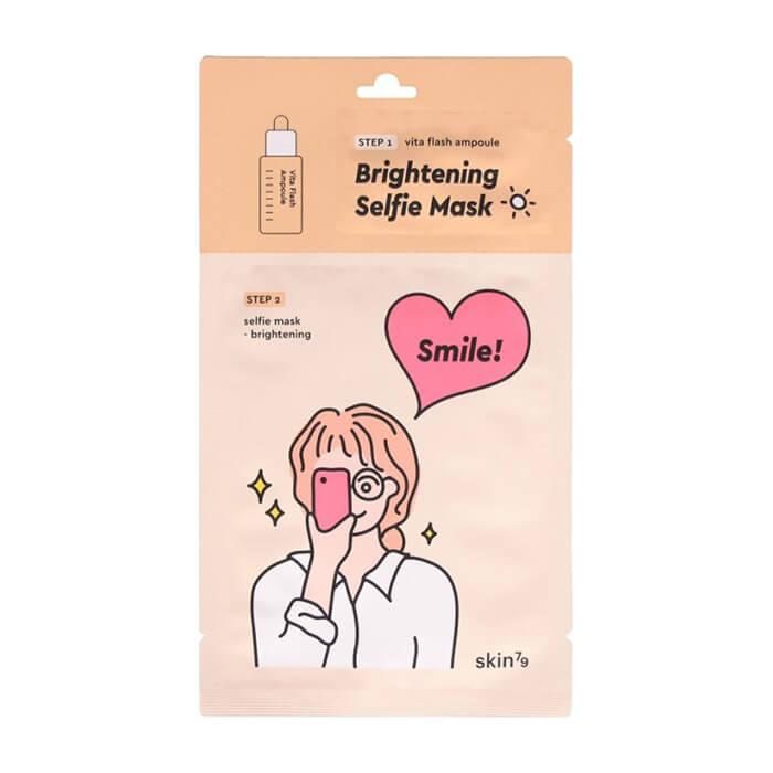 Купить Тканевая маска Skin79 Selfie Mask Brightening, Осветляющая тканевая маска для выравнивания тона кожи лица, Южная Корея