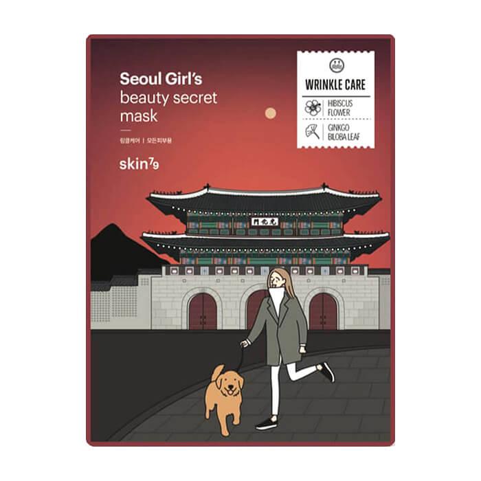 Тканевая маска Skin79 Seoul Girl's Beauty Secret Wrinkle Mask Антивозрастная тканевая маска для упругости и разглаживания кожи лица фото