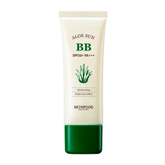 Купить Солнцезащитный ВВ крем Skinfood Aloe Sun BB Cream, Солнцезащитный ББ крем с экстрактом сока алое вера, Южная Корея