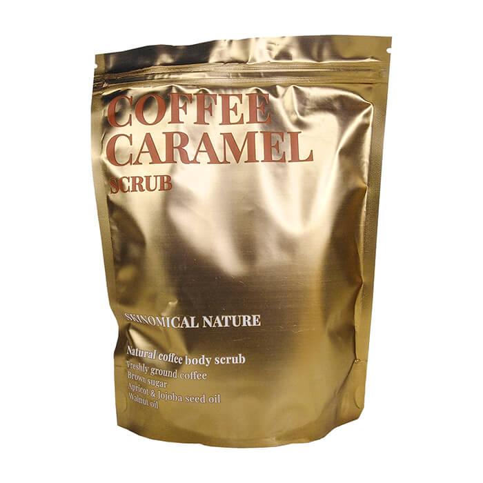Купить Скраб для тела Skinomical Nature Coffee Caramel Scrub, Кофейный скраб для тела с тростниковым сахаром и ароматом карамели, Южная Корея