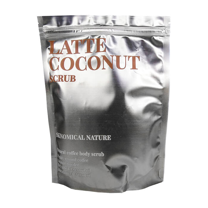 Купить Скраб для тела Skinomical Nature Latte Coconut Scrub, Кофейный скраб для тела с кокосовой стружкой и ароматом латте, Южная Корея