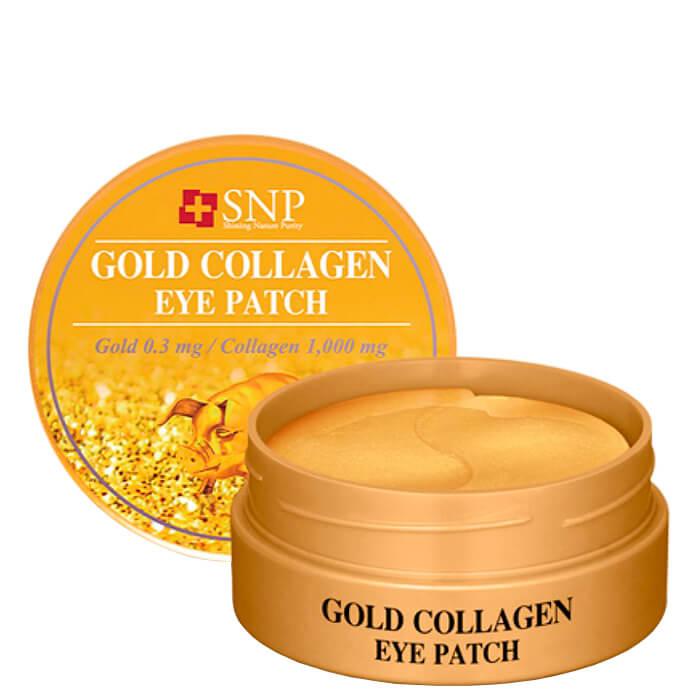 Купить Патчи для век SNP Gold Collagen Eye Patch, Гидрогелевые патчи для глаз с коллагеном и частицами золота 60 шт., Южная Корея