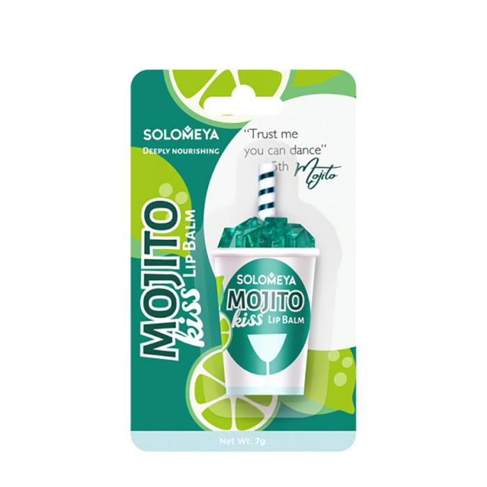 Купить Бальзам для губ Solomeya Lip Balm Mojito Kiss, Бальзам для губ в виде коктейльного бокала с ароматом коктейля Мохито , Великобритания