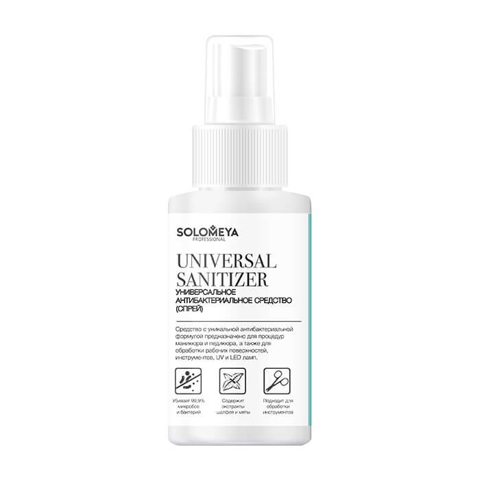 Купить Антибактериальный спрей для маникюра Solomeya Universal Sanitizer, Универсальное антибактериальное средство для маникюра и педикюра, Великобритания