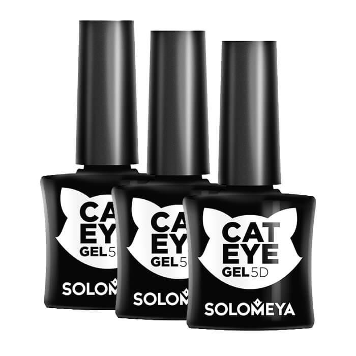 Купить Гель-лак для ногтей Solomeya 5D Vip Cat Eye Gel, Магнитный гель-лак с 5D-эффектом «Кошачий глаз», Великобритания