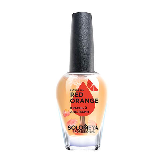 Купить Масло для ногтей и кутикулы Solomeya Cuticle Oil Red Оrange, Масло для здоровья ногтей и кожи вокруг них с витаминами и натуральными экстрактами, Великобритания