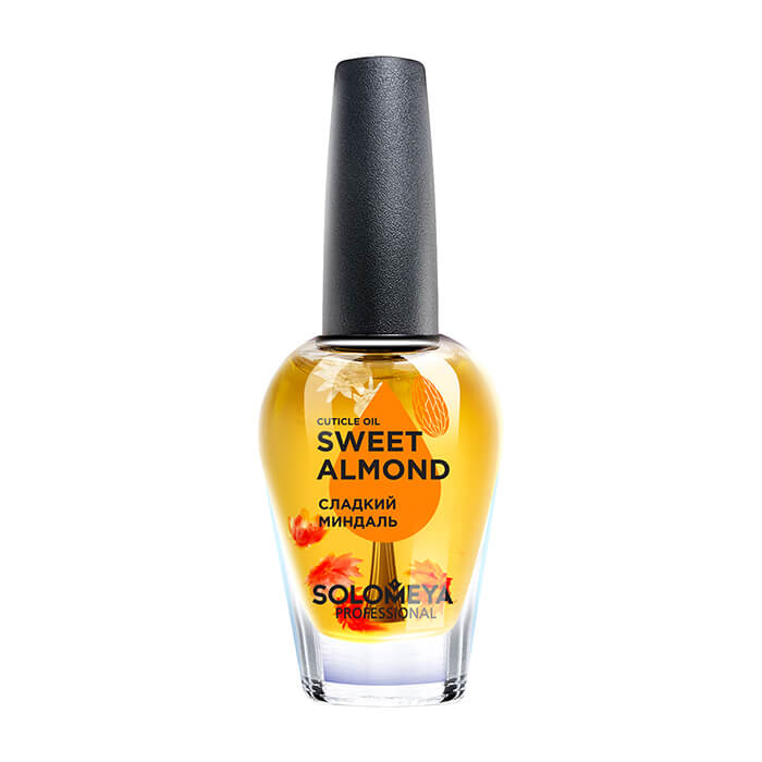 Купить Масло для ногтей и кутикулы Solomeya Cuticle Oil Sweet Almond, Масло для здоровья ногтей и кожи вокруг них с витаминами и натуральными экстрактами, Великобритания