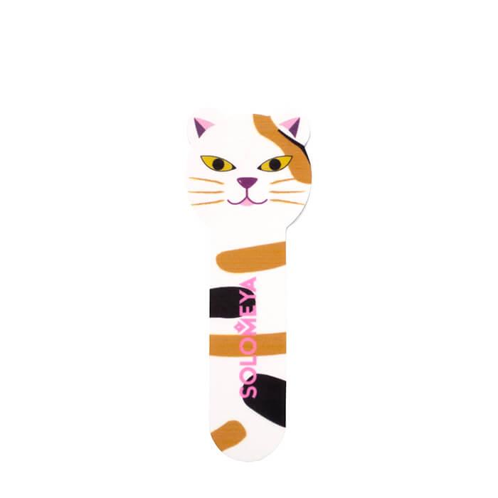 Купить Пилка для ногтей Solomeya Kitty Shiner Cat 2, Пилка для натуральных и искусственных ногтей в удобном мини-формате, Великобритания