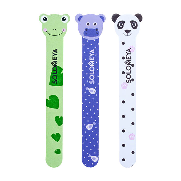Купить Пилка для ногтей Solomeya Lace Nail File 180/220, Цвет Panda | Панда, Дизайнерская двусторонняя пилочка для придания длины и формы ногтям, Великобритания