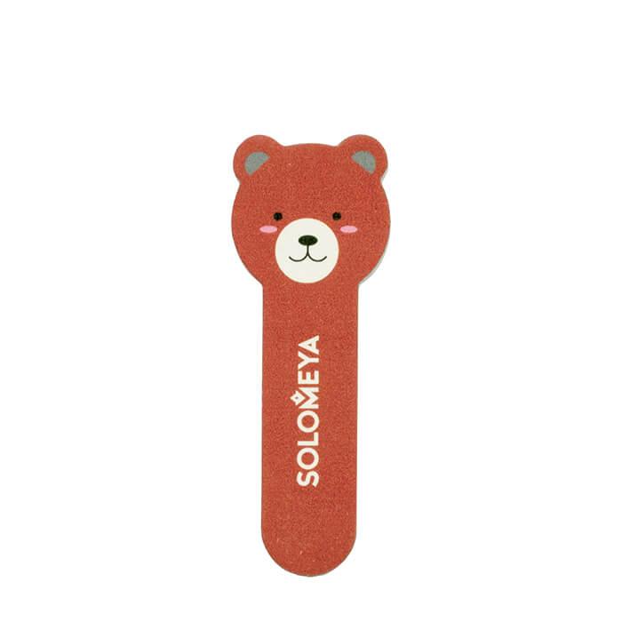 Купить Пилка для ногтей Solomeya Little Bear Nail File Bear 3, Пилка для натуральных и искусственных ногтей в удобном мини-формате, Великобритания