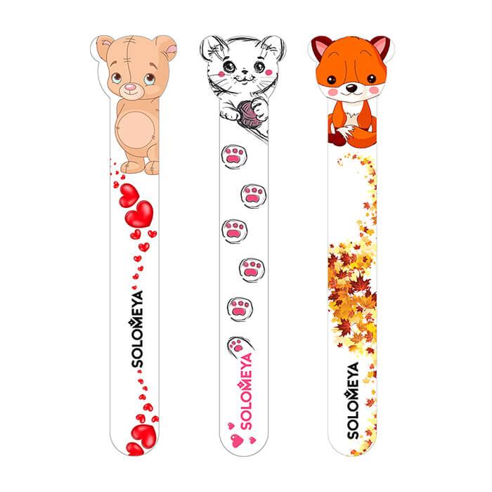 Купить Пилка для ногтей Solomeya Nail File 180/220, Цвет Sly Fox | Хитрый лисенок, Дизайнерская двусторонняя пилочка для придания длины и формы ногтям, Великобритания