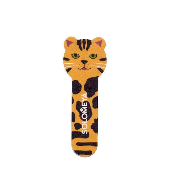 Купить Пилка для ногтей Solomeya Tiger Nail File Cat 2, Пилка для натуральных и искусственных ногтей в удобном мини-формате, Великобритания