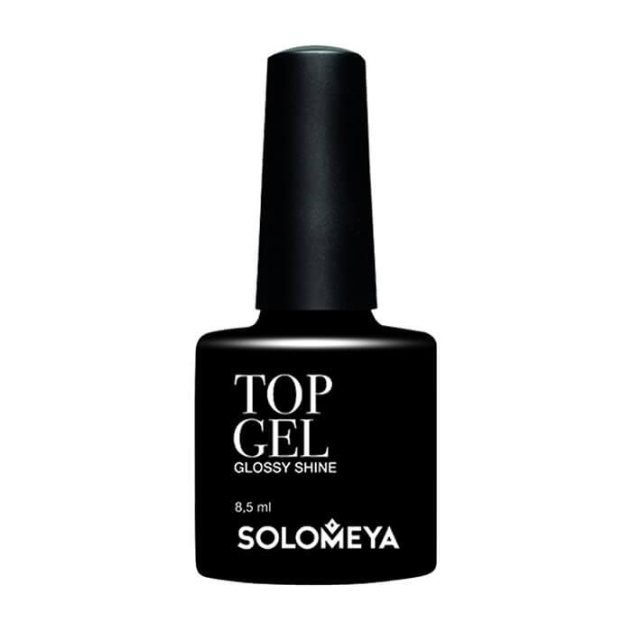 Купить Верхнее гелевое покрытие для ногтей Solomeya Top Gel Glossy Shine STG, Топ-гель для придания цветному покрытию насыщенного цвета и бриллиантового блеска, Великобритания
