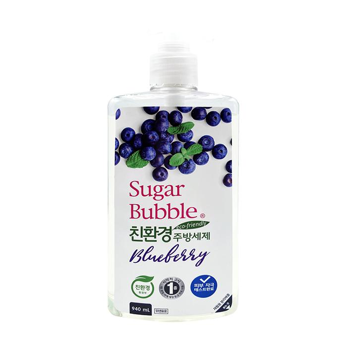 Купить Средство для мытья посуды Sugar Bubble Blueberry (940 мл), Экологичное средство для мытья посуды, овощей и фруктов с ароматом голубики, Южная Корея