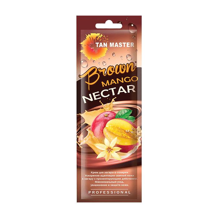 Крем для загара в солярии Tan Master Brown Mango Nectar (15 мл) Нежный крем для ускорения проявления загара с ароматом манго фото