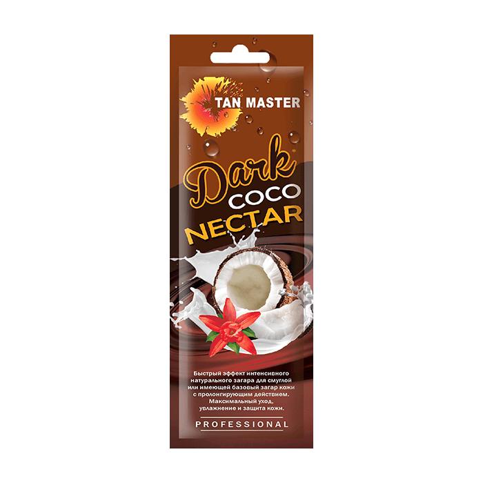 Купить Крем для загара в солярии Tan Master Dark Coco Nectar (15 мл), Нежный крем с бронзаторами для получения быстрого и интенсивного загара с ароматом кокоса, Россия