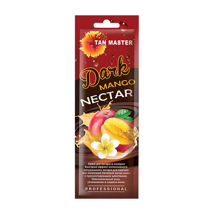 Купить Крем для загара в солярии Tan Master Dark Mango Nectar (15 мл), Нежный крем с бронзаторами для получения быстрого и интенсивного загара с ароматом манго, Россия