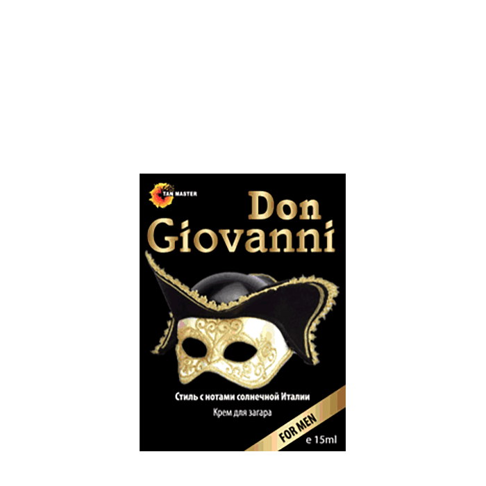 Купить Крем для загара в солярии Tan Master Don Giovanni (15 мл), Мужской крем для загара в солярии с пролонгирующим действием, Россия