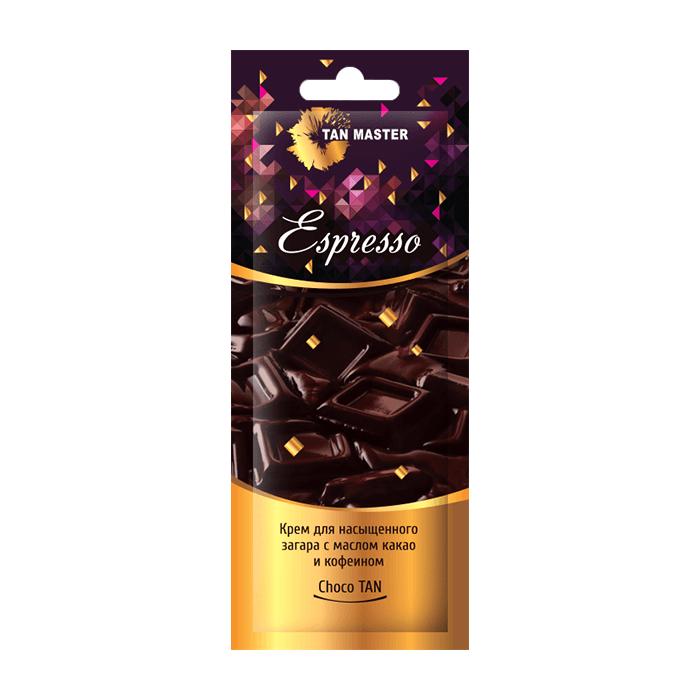 Купить Крем для загара в солярии Tan Master Espresso (12 мл), Нежный крем с маслом какао и кофеином для насыщенного стойкого загара, Россия