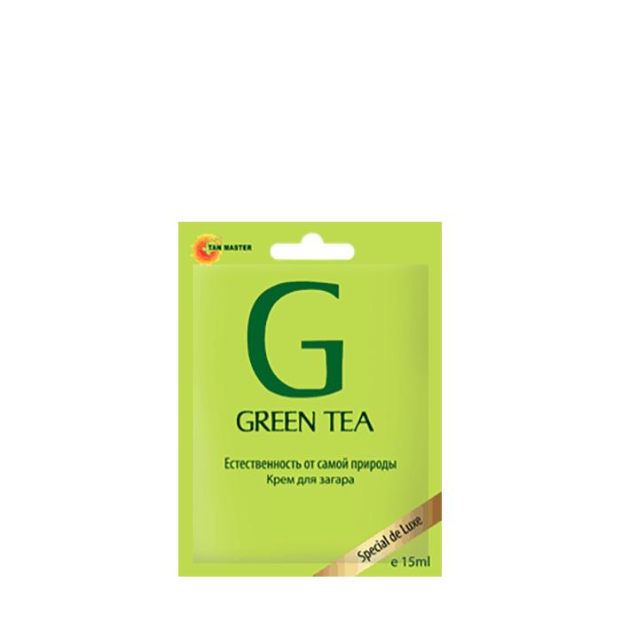 Купить Крем для загара в солярии Tan Master Green Tea (15 мл), Крем для получения стойкого естественного загара в солярии с экстрактом зеленого чая, Россия
