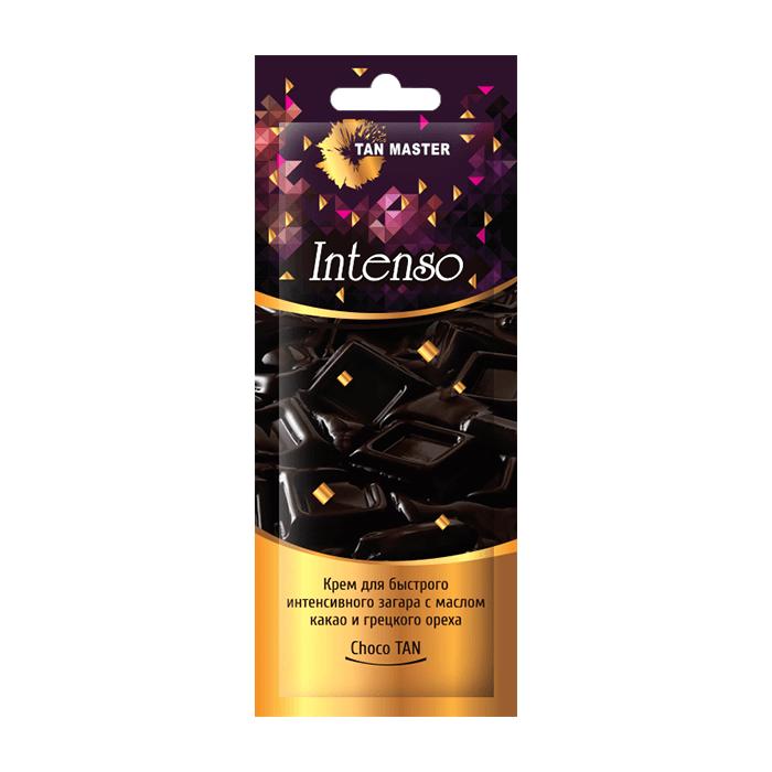 Купить Крем для загара в солярии Tan Master Intenso (12 мл), Нежный крем с маслом какао и грецкого ореха для глубокого интенсивного оттенка загара, Россия