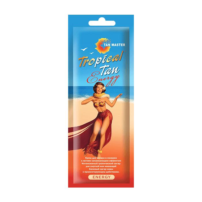 Купить Крем для загара в солярии Tan Master Tropical Tan Energy (15 мл), Крем для получения быстрого эффекта интенсивного морского загара в солярии, Россия