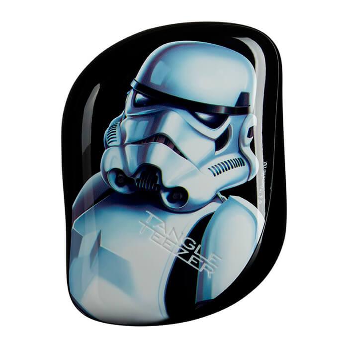 Купить Расческа для волос Tangle Teezer Compact Styler - Star Wars Stormtrooper, Компактная чёрная профессиональная расческа для волос, Великобритания