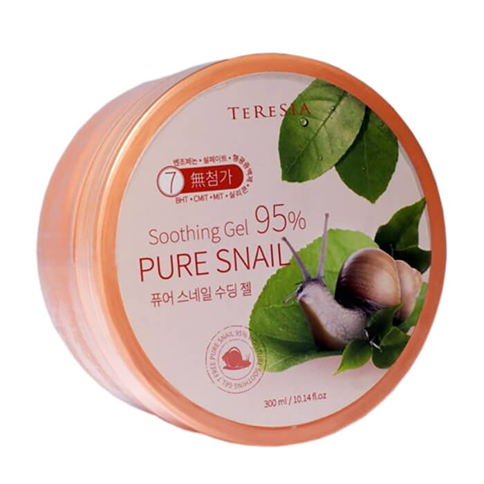 Гель с улиткой Teresia Pure Snail Soothing Gel Универсальный увлажняющий гель для ухода за кожей и волосами с муцином улитки фото