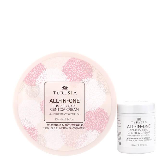 Купить Крем для лица Teresia All-In-One Complex Care Centica Cream (300 мл + 30 мл), Универсальный крем для кожи лица с травяным комплексом и центеллой азиатской, Южная Корея