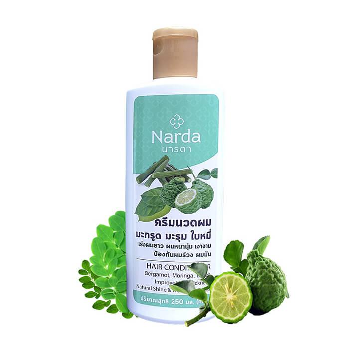Купить Кондиционер для волос Narda Hair Conditioner - Bergamot, Moringa, Litsea, Балансирующий кондиционер для укрепления и ускорения роста волос, Thai House of Nature, Таиланд