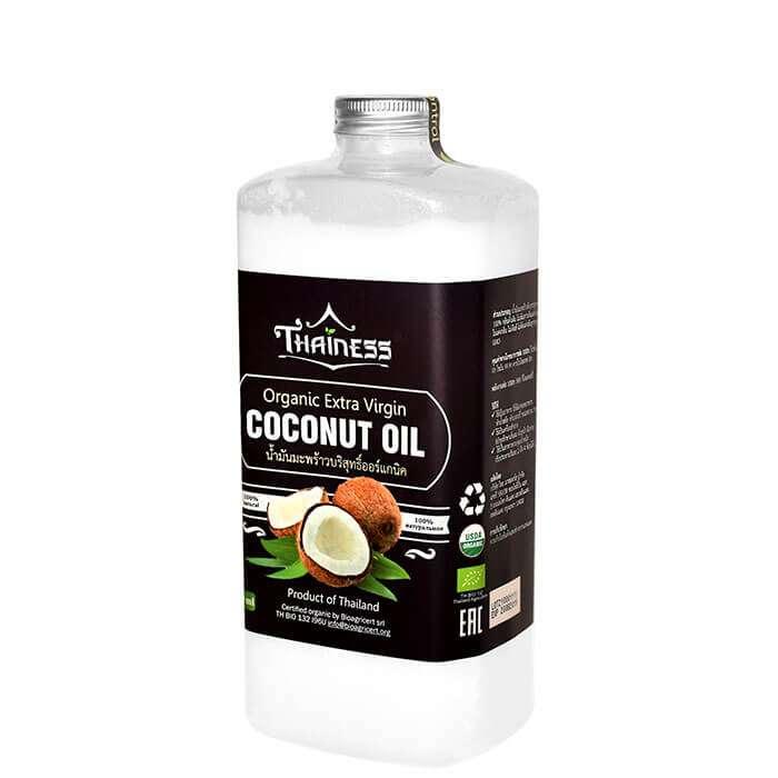 Купить Кокосовое масло Thainess Organic Extra Virgin Coconut Oil (1000 мл), Натуральное нерафинированное кокосовое масло первого холодного отжима, Таиланд