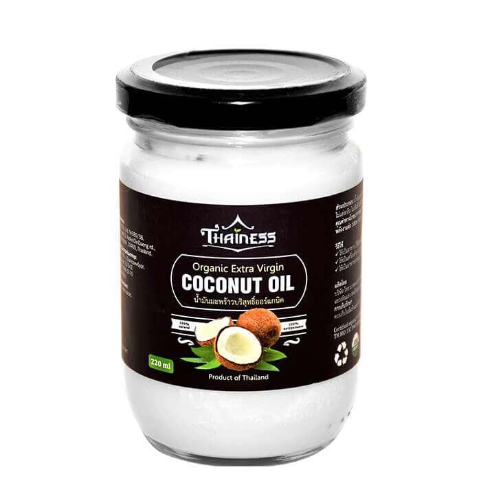 Кокосовое масло Thainess Organic Extra Virgin Coconut Oil (220 мл), Натуральное нерафинированное кокосовое масло первого холодного отжима, Таиланд  - Купить