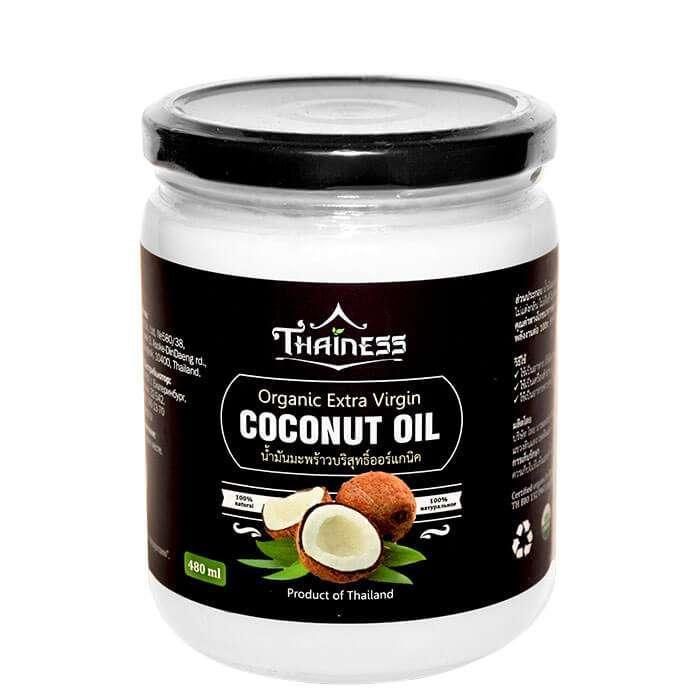 Купить Кокосовое масло Thainess Organic Extra Virgin Coconut Oil (480 мл), Натуральное нерафинированное кокосовое масло первого холодного отжима, Таиланд